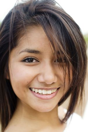 Pretty fresh faced smile Stock Photo - 5739326