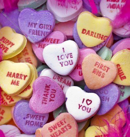 candy hearts: Valentibe Candy