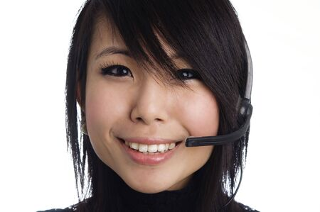Attractive friendly customer service woman Stock Photo - 6269498