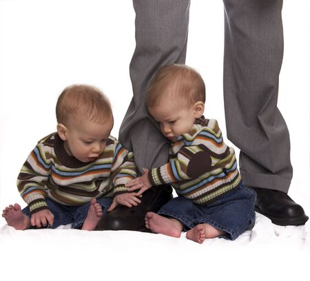 twins: Identical twins Stock Photo
