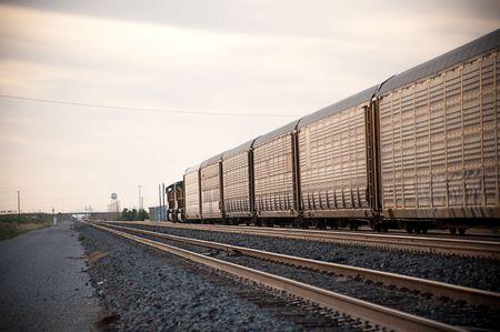 Railroad locomotive travelling across Arizona Reklamní fotografie
