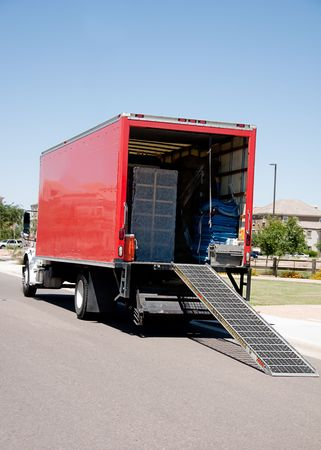 Relocation moving truck Stock Photo - 6988300