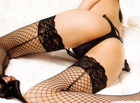 Beautiful lingerie model