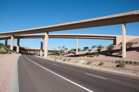 Nieuw, Meerdere snelweg baans snelweg Stockfoto