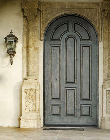 Beautiful elegant and ornate wooden doorway