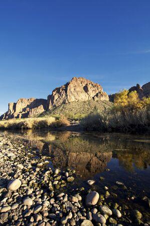 evening sunshine falling on a beautiful remote creek.  photo