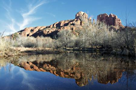 coconino national forest: Sedona Cathedral and Oak Creek area