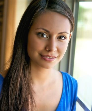 latina female: Portrait of pretty young woman