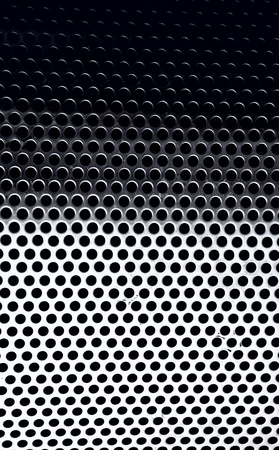 Brushed steel metal honeycomb background