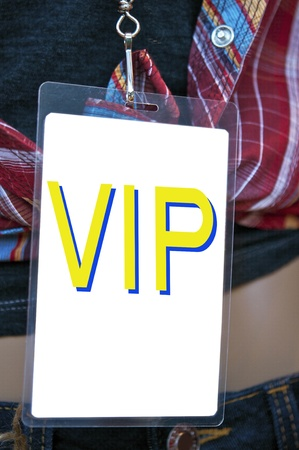 Backstage pass access pass Stock Photo