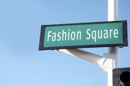 Fashion Square Street Sign in Scottsdale, AZ