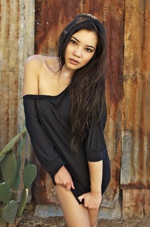 Gorgeous young Asian woman photo