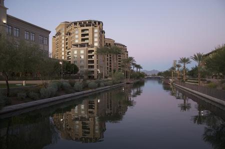 scottsdale: Scottsdale waterfront area in Arizona