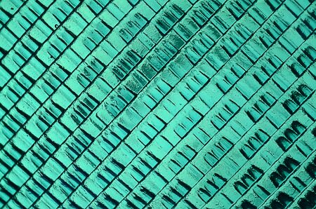 Close up image of green stop light texture background photo