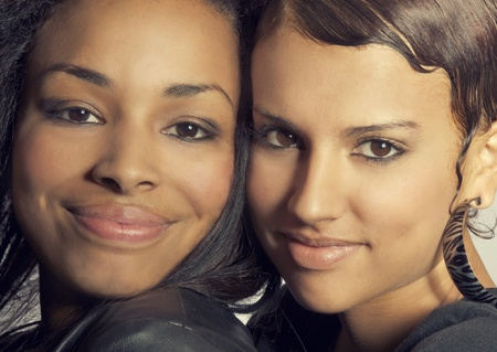 Best friends, two pretty young women Stock Photo - 11489303