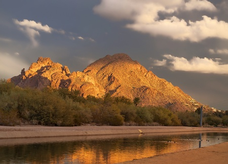Canal water system through Phoenix, AZ