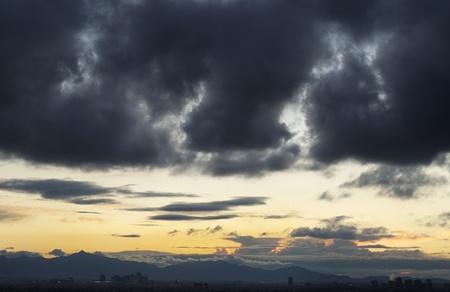 az: Dramatic cloud formation over Phoenix,AZ