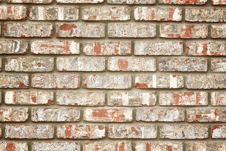 brick: Faux rustic brick wall