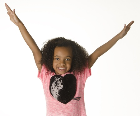 Adorable smiling little girl with curly hair Stock Photo - 12405723