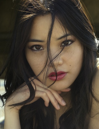 sultry: Sultry seductive Asian beauty Stock Photo