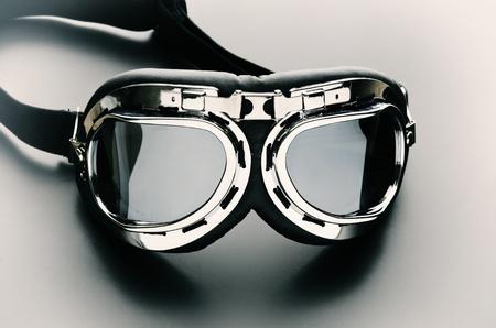 Vintage retro aviation bike goggles  photo