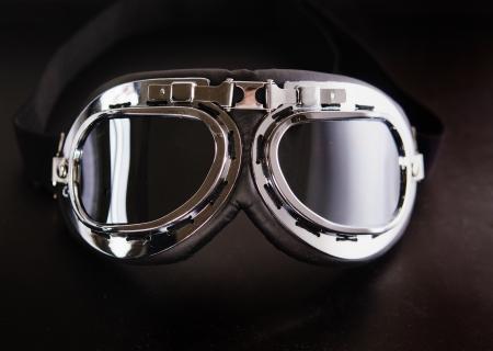 Vintage retro aviation bike goggles