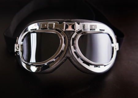 Vintage retro aviation bike goggles
