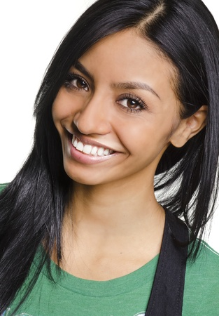 Pretty smiling young woman photo
