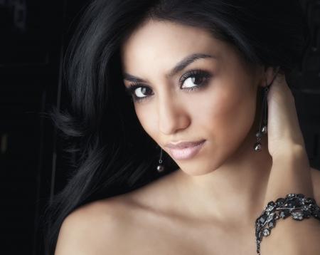 latina female: Face of beautiful young woman