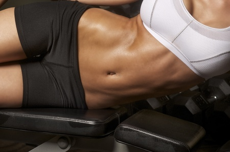 Fitness gym model abs stomach