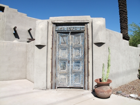 tucson: Old rustic wooden doorway