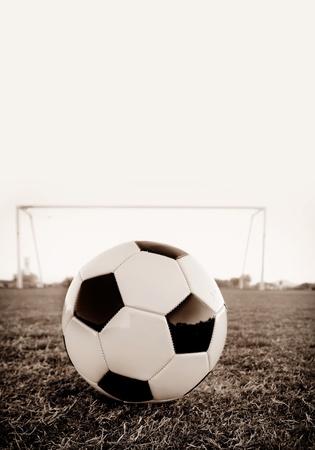 sporting event: Football soccer ball on penalty spot