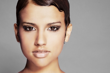 Beautiful multi ethnic face and eyes Stock Photo - 17420296