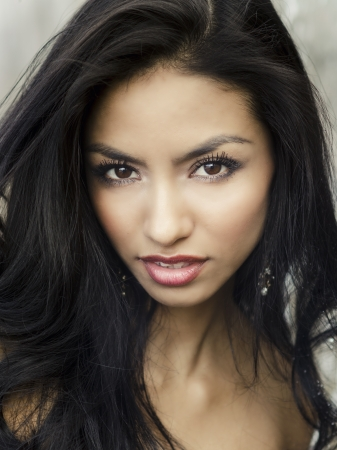 Beautiful exotic young woman face
