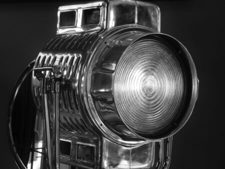Retro Hollywood style movie light photo