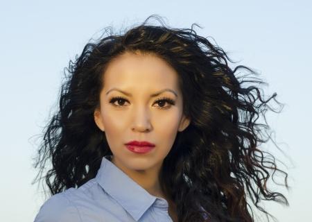 Beautiful Native American young woman