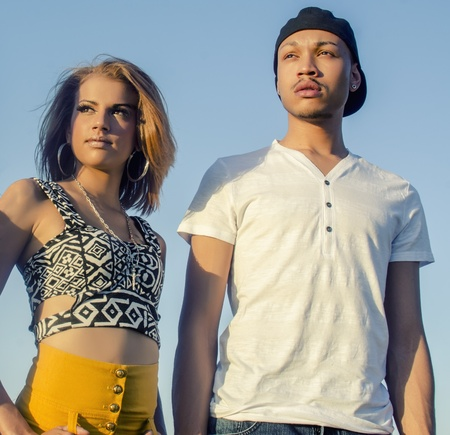 Young cool trendy fashionable man and woman Stock Photo - 19672771