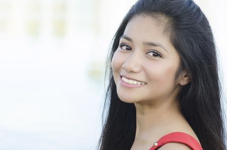 fresh graduate: Beautiful smiling Asian woman