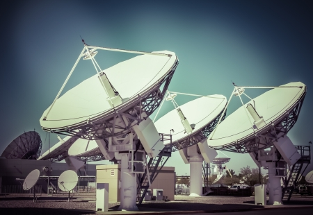tv station: Satellite Dishes