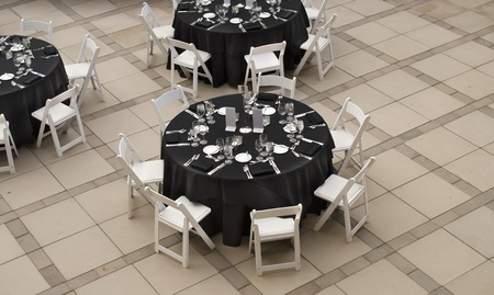 Banquet table for social event photo