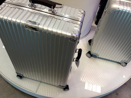 steel: Luxury luggage metal steel case
