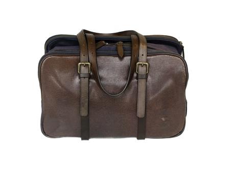 Brown stylish leather bag satchel photo