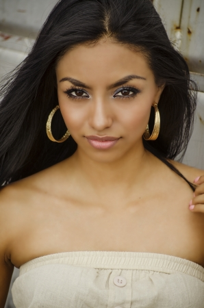 latin american ethnicity: Beautiful exotic young woman