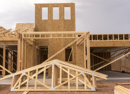 New home under construction Stock Photo - 21896568
