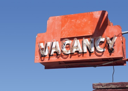 old sign: Road side route 66 motel vacancy sign south west USA Stock Photo