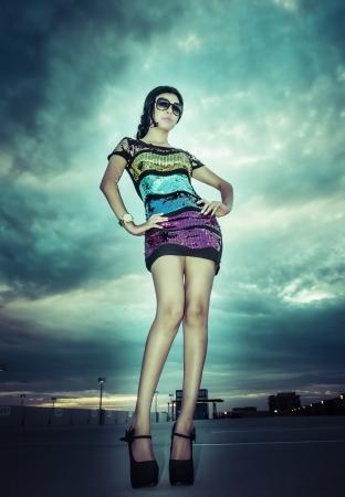 beautifull woman: Beautifull woman long legs short dress Stock Photo