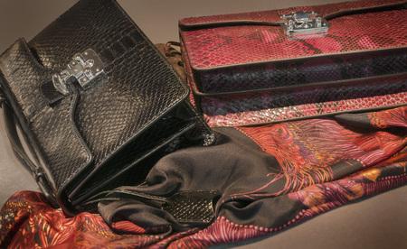 designer bag: Ladies fashion hand bags and silk scarf