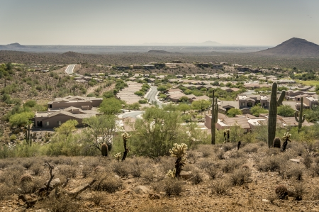 Desert mountain community photo