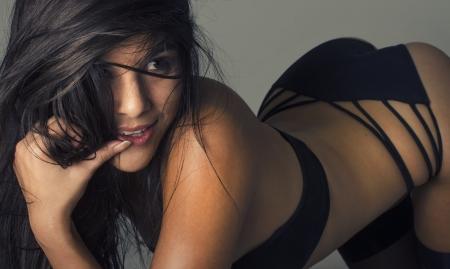 Beautiful exotic young woman
