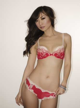Fresh beautiful young woman in lingerie photo